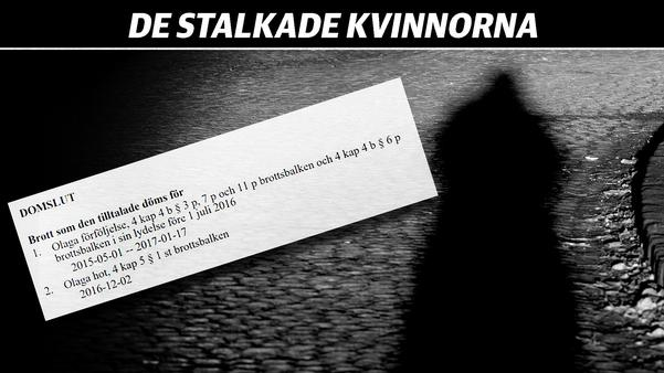 Annikas ex dömdes 2017 för olaga förföljelse efter år av trakasserier och hot. Två månader efter domen började han höra av sig igen.Montage:  VLT / Hasse Holmberg, TT