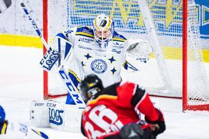 Janne Juvonen stod för en fenomenal målvaktsinsats mot Luleå. Foto: Simon Eliasson/Bildbyrån.