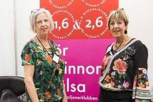 På plats var också Elisabet Dalin Westberg och Eva Viklund, ambassadörer för 1,6 miljonersklubben i Sundsvall, en förening för kvinnors hälsa och livskvalitet.