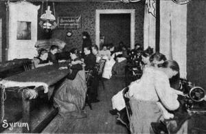 Från syrummet i Frälsningsarméns räddningshem i början på 1900-talet. Foto: Stockholmskällan
