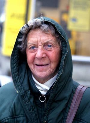 Evy Östblom, 73 år, pensionär, Gävle– Oj, det där är jag inte alls insatt i.