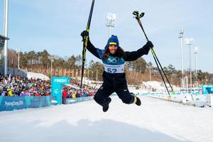 OS-silver på tio kilometer fristil 2018. Bild: Carl Sandin/Bildbyrån.