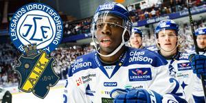 Enock firar sitt mål. Foto: Daniel Eriksson/Bildbyrån.