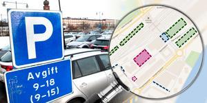 I VLT den 7 januari pryds förstasidan av en stor rubrik om hur du kan parkera billigast möjligt i centrala Västerås. Foto: Kenneth Hudd. Karta och montage: Terese Westberg Sunesson