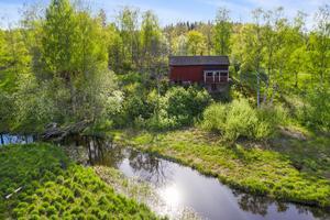 Norbergsån ringlar förbi tomten. Foto: Patrik Persson