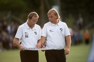 Robert Englund tillsammans med Göran Sundqvist.