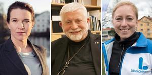 Lina Nordquist (L), Agne Furingsten (L) och Lina Eriksson (L).