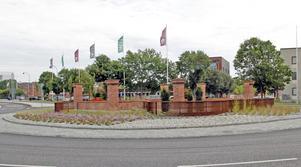 Cirkulationsplatsen är färdigbyggd och får nu namnet Kopparmotet.