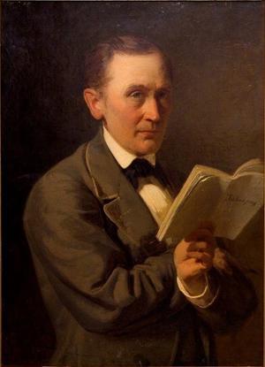 Friedrich Reinhold Kreutzwald läser manuskriptet till