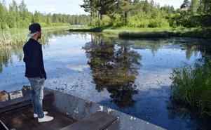Sami Alvandi tittar ut över bäcken, mot älven, och konstaterar att det nog dröjer innan han återvänder dit för att fiska.