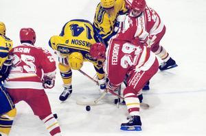 Det blev för tufft för Sverige att försvara VM-guldet från 1987. Foto: Jan Collsiöö/TT