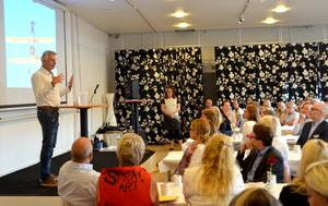 Pigge Werkelin presenterade byggplanerna på en företagar- och pressträff på Midlanda i morse.
