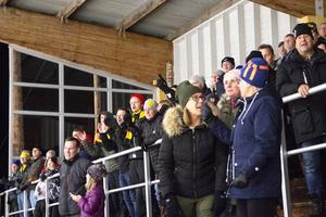Stämningen var på topp när  Ljusdal tog ledningen mot Team Sweden U-21.