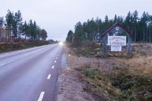 En rad av marschaller sträckte sig från välkomstskylten in i Lillhärdal.