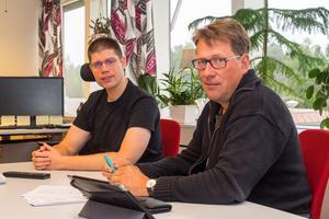 Delårsbokslutet var ingen munter läsning för Lars-Gunnar Nordlander(S) och Anders Häggkvist(C), delar av den styrande majoriteten i kommunen.