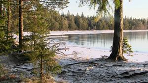 I december 2016 var vattennivån i Storsjön ovanligt låg.