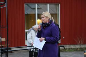 Lise Ohlin är projektledare för det nya vård- och omsorgsboendet  i Kumla. Bilden är tagen vid invigningen av Akvarellen för två år sedan.
