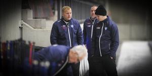Ari Holopainen och Jesper Larsson tillsammans under World cup i Sandviken.