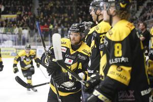 Morgan Hassel under playoffspelet mot Mariestad förra säsongen.