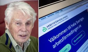 Södertäljebon Bosse Elmgren föreslår en allmän arbetsförsäkring – där han vill att  Arbetsförmedlingen tar en viktig roll. Foto: LT-arkiv och TT