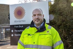 Mångsysslaren Richard Morén är det som sedan 1 oktober styr Stora Ensos  anläggning i Fors.  Han har en bakgrund som ishockeyspelare och tränare.