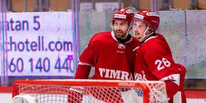 Jonathan Dahlén spelade fram Albin Lundin i Timrås andra match för säsongen. Foto: Bildbyrån.