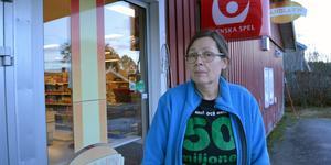 Marie Hellbom köpte matbutiken i Lumsheden tillsammans med sin make 2006.