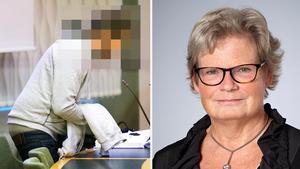 Riksåklagare Kerstin Skarp, till höger, överklagar domen gällande mordet på Elena Åsberg i Surahammar. Hon vill att mördaren (till vänster i bild) döms till fängelse i stället för till rättspsykiatrisk vård. Foto: Kenneth Hudd och Thomas Carlgren/pressbild