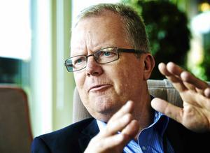 Tidigare kommunalrådet Anders Ahlgren (C), som inte finns på C-listorna inför valet talade sig under sitt sista (?) fullmäktigesammanträde varm för en kommunstyrelseleddd organisation. Foto: Claes Söderberg/Arkiv