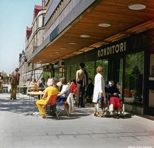 Vasa konditori på 1970-talet. Okänd fotograf. Bildkälla: Örebro stadsarkiv