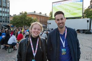 Kim Lindkvist och Aljoša Lagumdžija från Södertälje city.