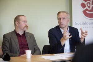 Gävle kommuns Jörgen Edsvik och Sandvikens riksdagsman Patrik Lundqvist var också på plats.