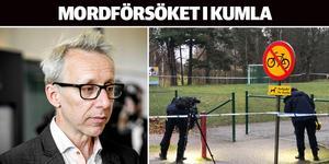 En 19-årig man åtalas för att ha försökt mörda en 23-årig man med ett flertal knivhugg  vid Malmens skola i Kumla.
