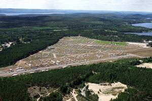Flygbild över Moheds flygfält O-ringen 2006.