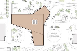 Alternativ 1: Nuvarande 7-9-byggnaden rivs och en helt ny F-9-skola byggs – 197 miljoner kronor.
