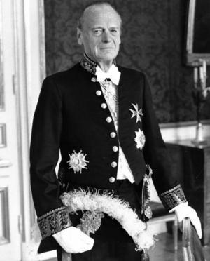 Gunnar Lagergren som riksmarskalk 1981.
