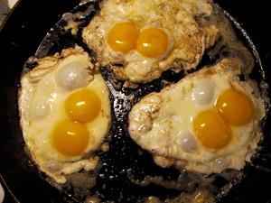 Vi köpte tolv ekologiska ägg och i vart och ett fanns det två äggulor. Det lönar sig på flera sätt att köpa ekologiskt!