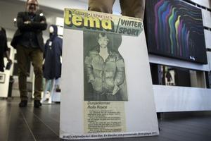 Det var då det, en något yngre Stefan Vestberg visar upp sin skinn-dun-jacka i tidningen Expressen 1977.