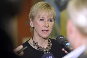 Utrikesminister Margot Wallström (S) backar från stöd till kärnvapenförbud. Foto: Henrik Montgomery/TT