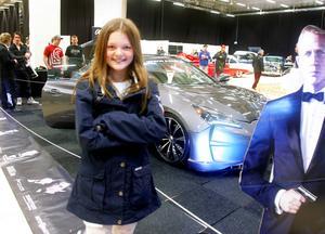 Det här James Bondinspirerade bilbygget blev 11-åriga Nathalie Hasselskogs favorit.