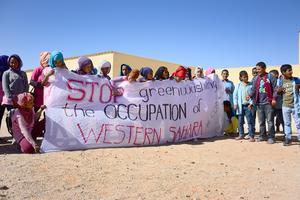 Ett flyktingläger i Västsahara.