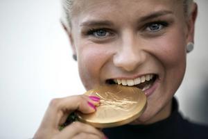 Rissveds, här med OS-guldet.