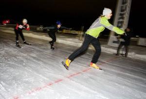 Irene Karlsson Burman blev Östersunds snabbaste skrinnare på hundra meter.