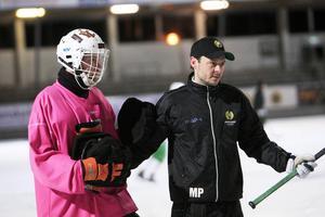 Misja Pasjkin tillsammans med målvakten Patrik Hedberg.