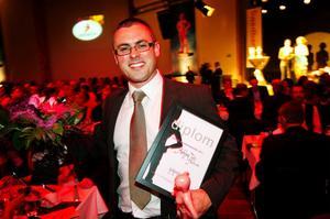 Det var en glad Ashley Tott som tog emot priset för Årets entreprenör. Han driver företaget Nordicvibe.