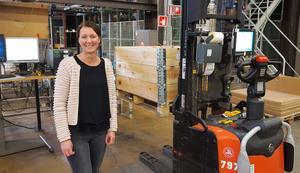 Caroline Ekblom, ekonomi och HR-chef på AA Logistik, Alfr. Anderssons Logistik AB