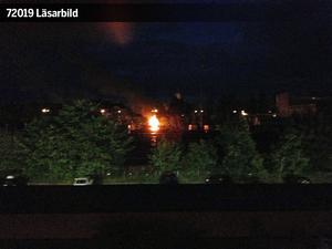 En godsvagn började brinna på fredagskvällen.