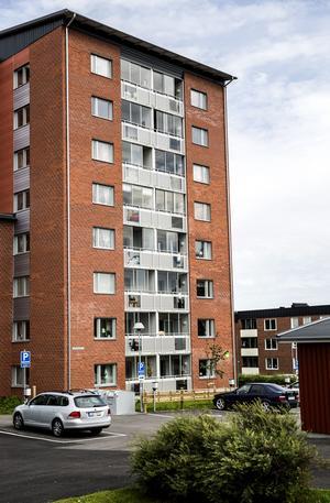 Så här kommer hyreshuset på Malmgatan i Smedjebacken att se ut. Bilden är från Vapelhöjden i Sundsvall.