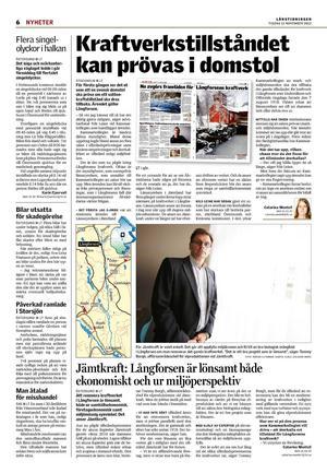 Länstidningen den 13 november 2012.