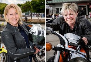 Petra Holmlund och Maria Nordqvist jobbar vid SMC, som samlat in råd och tips från MC-förare runt om i landet för att öka trafiksäkerheten.